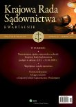 Najważniejsze opinie, stanowiska, uchwały Krajowej Rady Sądownictwa podjęte w okresie: 1.01. – 31.03.2009 r.