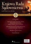 Najważniejsze opinie, stanowiska, uchwały Krajowej Rady Sądownictwa podjęte w okresie: 1.01.–31.03.2010 r.